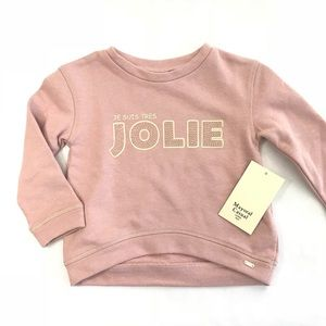 NWT Mayoral Tres Jolie Pink Pullover